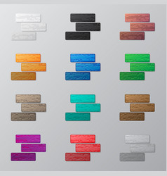Set of colorful bricks vector