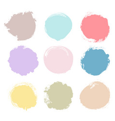 set of multicolor grunge circles vector image