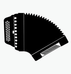 Silhouette accordion vector