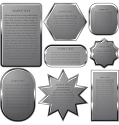 Silver label frame EPS 10 vector image