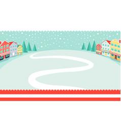 Snowy wintertime park poster vector