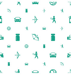 Sports icons pattern seamless white background vector