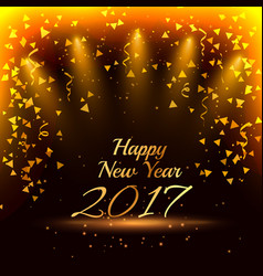 stylish happy new year 2017 party background with vector image