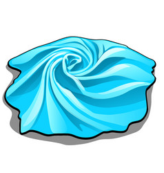 the tissue sample is of blue color isolated on vector image