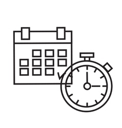 Time Planning The clock and calendar vector image