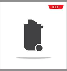 trash icon isolated on white background vector image