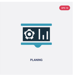 Two color planing icon from industry concept vector