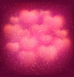 Valentines day background with blurred bokeh heart vector