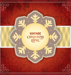 Vintage Chrismas card vector