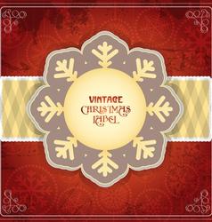 Vintage Chrismas card vector image