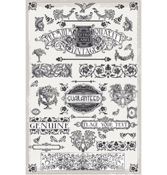 Vintage Hand Drawn Graphic Page Banners vector image