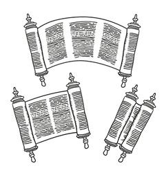 Vintage roll antique blank manuscript over vector