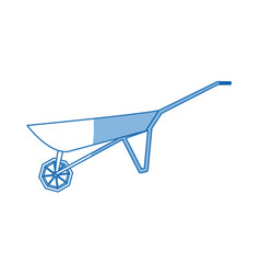 Wheelbarrow used to carry tools for agriculture vector