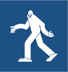 yeti icon bigfoot sign abominable snowman symbol vector image