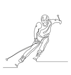 Alpine skiing winter sport extreme vector