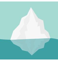 Iceberg Blue water Flat design Winter background vector image vector image
