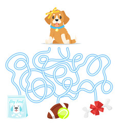 maze or labyrinth for children vector image