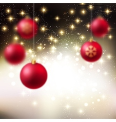 Merry Christmas Bauble greeting card vector image