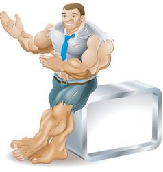 muscular businessman vector image