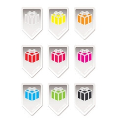 Paper tag gift present vector image