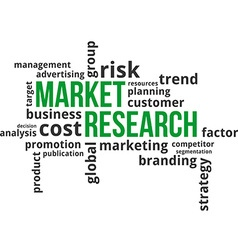 word cloud market research vector image