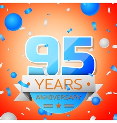 Ninety five years anniversary celebration on vector