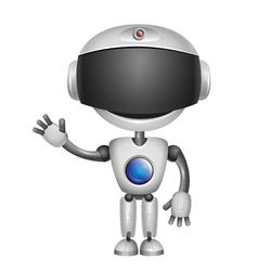 robot hi Bill vector image