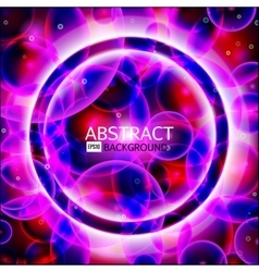 round frame Shining circle banner Glowing vector image