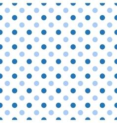 Seamless polka blue pattern vector image