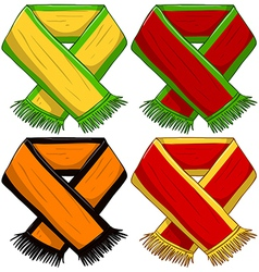 Sports team scarf pack vector