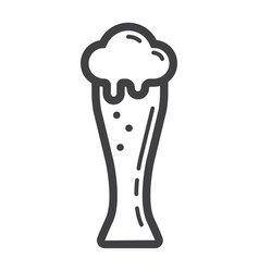 beer glass line icon food and drink alcohol sign vector image vector image