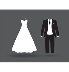 bride groom6bride and groom vector image