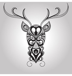 Deer Tattoo Style vector image