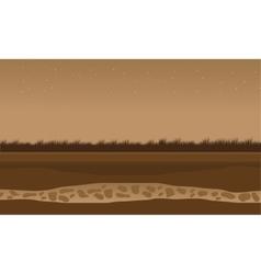 Fields scenery brown bakcgrounds game vector image
