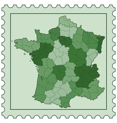 France on stamp vector image