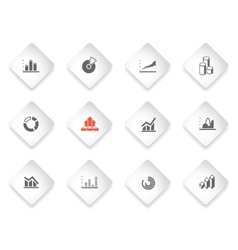 information graphic Icon Set vector image