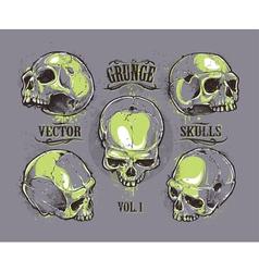 Skulls Hand Drawn Set 2 vector image vector image