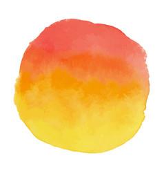 Yellow and orange watercolor banner blot vector
