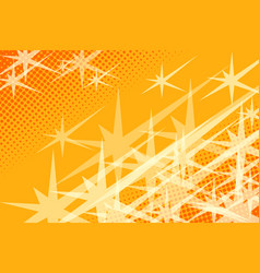 yellow background stars vector image vector image