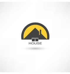 black simple house vector image vector image