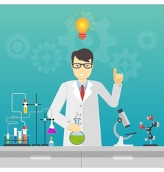 Chemical laboratory science and technology vector image vector image