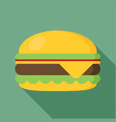 hamburger icon with long shadow flat style vector image vector image