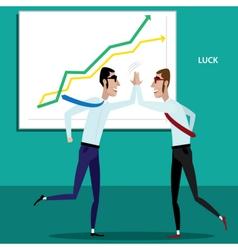 Happy businessmen giving five vector image