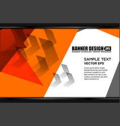 orange polygon template backgrounds vector image