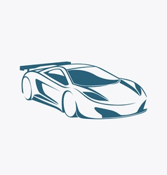 Racing auto logo and speed vector image