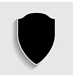 Shield sign Sticker style icon vector image