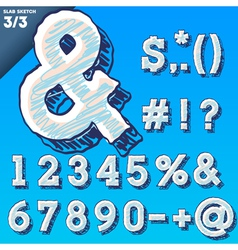Sketch alphabet vector image vector image