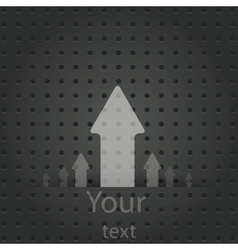 Speech Bubble on Metal Background vector image