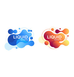 abstract liquid shape fluid design vector image