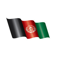 afghanistan flag on a white vector image
